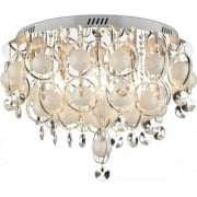 Cloud CLO2850 Polished Chrome 18 Light Baubles Flush Ceiling Fitting