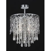 SURI CFH211092/04/SF/CH Polished Chrome Semi-Flush Pendant