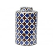 Tile Print 337948 Homeware Lidded Ceramic Jar Large