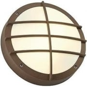 Bulan Grid 229087 Round Rust-Coloured Wall Light