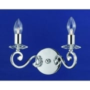 TRIESTE CFH911173/02/WB/CH Polished Chrome With Clear Glass Wall Light