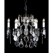STRAZ CB00400/06 Antique Bronze With Crystal Detail Chandelier