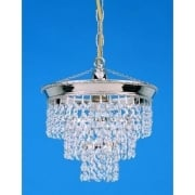 BRUNSWICK ST03072/20/01/N Nickel With Crystal Detail Chandelier