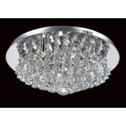 PARMA CFH011025/08/CH Polished Chrome Flush Pendant
