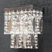 Tempo 180/1 Crystal Square & Lozenge Wall Bracket