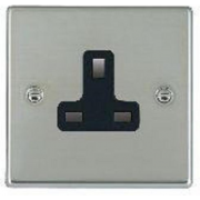 Hartland 73US13B Bright Chrome 1 gang 13A Unswitched Socket