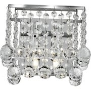 Hanna 5402-2CC Chrome With Crystal Detail Wall Light