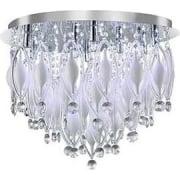Spindle 2459-9CC Chrome And Glass Flush Light