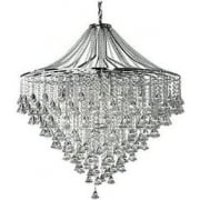 Dorchester 3497-7CC Chrome And Crystal Ceiling Light