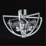Muni MUNI-CH-F Chrome Semi Flush Ceiling Light