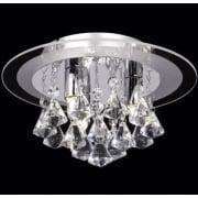 Renner RENNER-3CH Crystal & Glass Semi Flush Ceiling Light