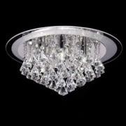 Renner RENNER-6CH Crystal & Glass Semi Flush Ceiling Light