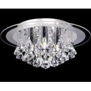 Renner RENNER-5CH Crystal & Glass Semi Flush Ceiling Light