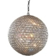 Milano MD103204-5AGOL/CLR Medium Pendant Gold with Clear Crystal