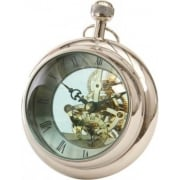 Paperweight 137801 a large clock with visible working mechanism