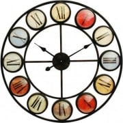 Smarty Iron Clock 137747 Roman Numerals Colour Domed Glass