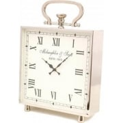 Ambassador Large Square Clock 137913 Polished Chrome