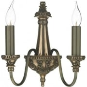 Bailey BAI0963 Rich Bronze 2 Light Wall Fitting