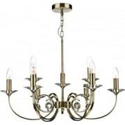 Allegra ALL1375 Antique Brass 9 Light Pendant