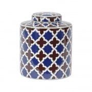 Tile Print 337947 Homeware Lidded Ceramic Jar Small
