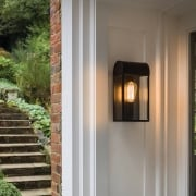 Newbury 7267 outdoor black and glass wall light