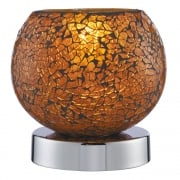 Searchlight Electric Crackle 2169OR Touch Table Lamp