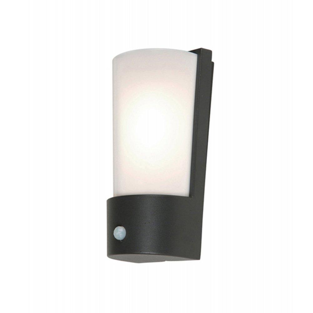 Outdoor Wall Lights Uk With Pir: Elstead Lighting Azure Low Energy 7 Dark Grey Outdoor Wall