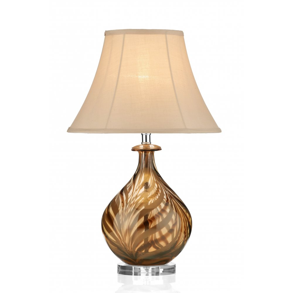 Lamparas Color Glass Led Table Lamp Hand Made Tiffany Desk: Dar Lighting Tiger TIG4229 Polished Chrome Glass Table