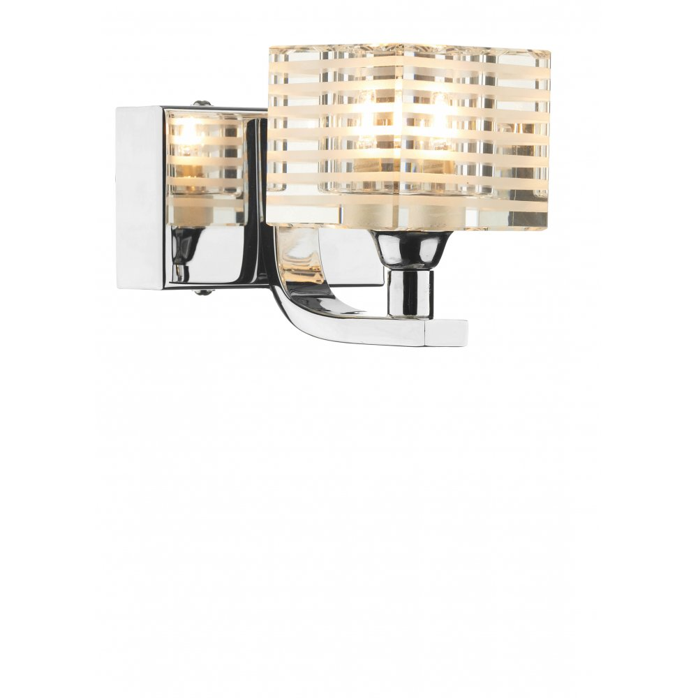 Dar Lighting Wall Lights : Dar Lighting Cleo CLE0750 Polished Chrome Wall Light - Dar Lighting from Lightplan UK