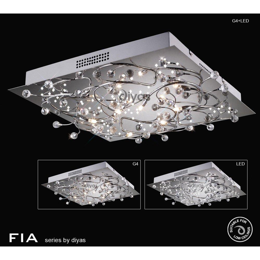 Diyas uk fia il30636 polished chrome crystal 6 light led square diyas uk fia il30636 polished chrome crystal 6 light led square ceiling fitting aloadofball Gallery