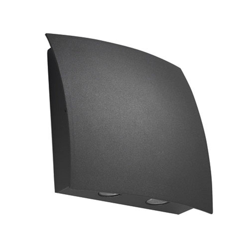 Wall Light Glass Diffuser : LedsC4 Lighting Surf 05-9484-Z5-37 Dark Grey Aluminium With Transparent Glass Diffuser Wall Light
