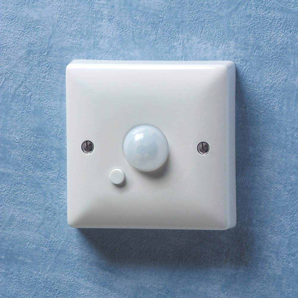 Wall Mounted Lamp With Switch : Danlers Wall mounted PIR switch WAPIR White Lighting Control - Danlers from Lightplan UK