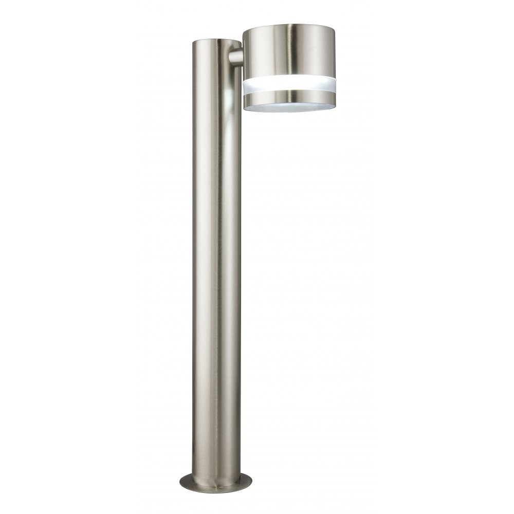 Searchlight electric le1554ss stainless steel post light for Outside pole light fixtures