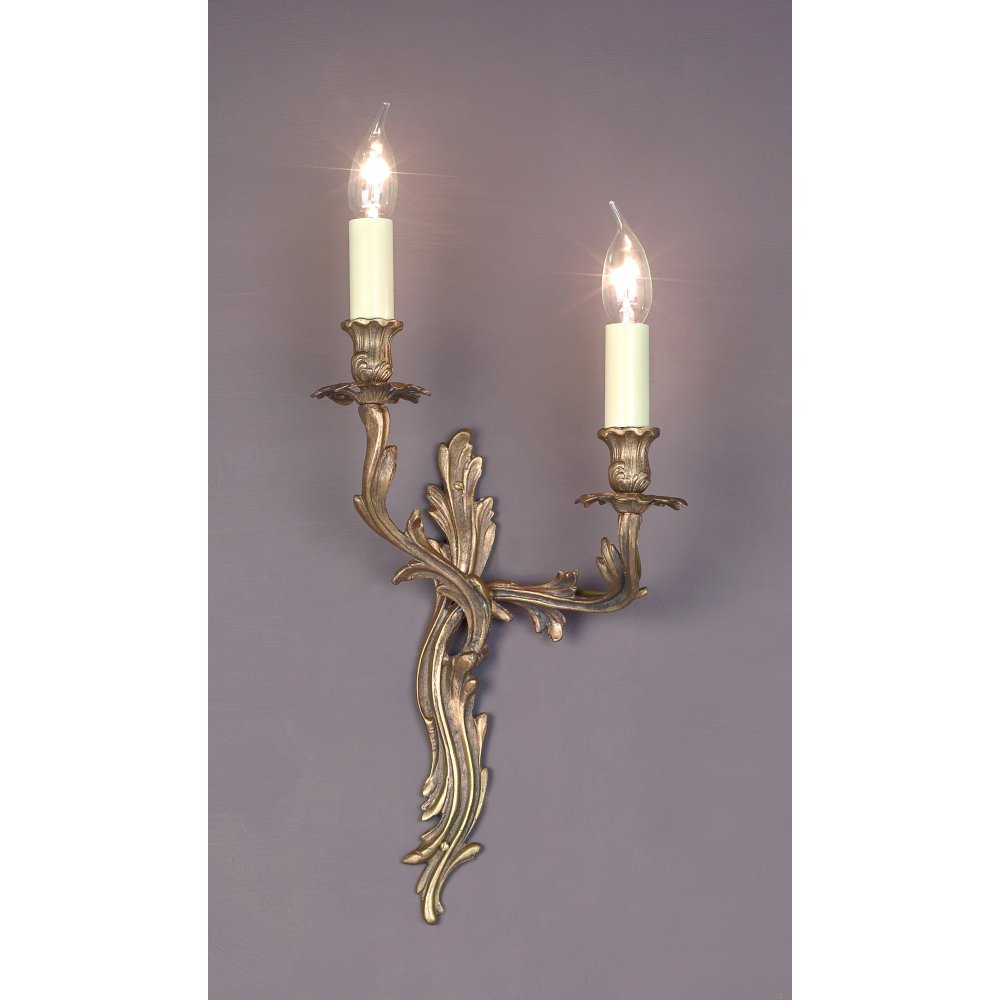 Impex Russell LOUIS SMBB00402L/PB Decorative Polished Brass Wall Light