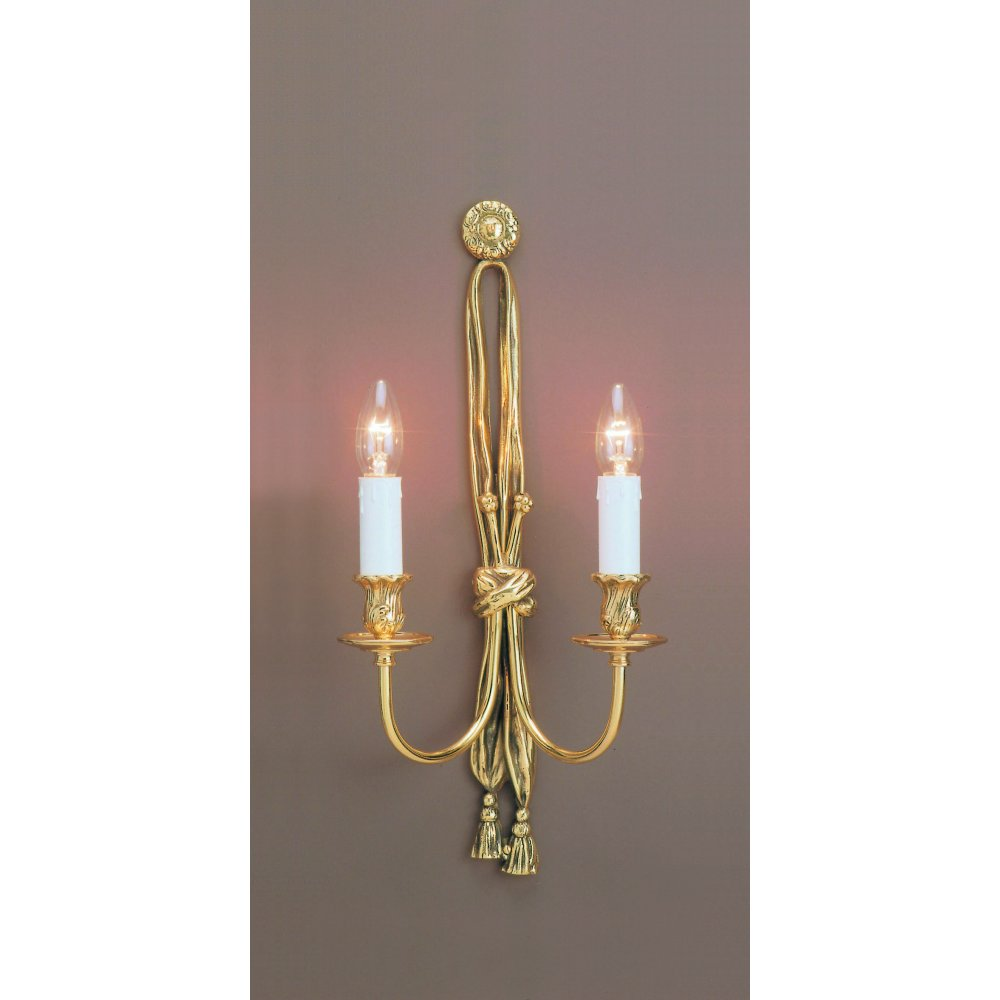Polished Brass Wall Lamps : Impex Russell RICHMOND SMBB00012B/PB Polished Brass Wall Light