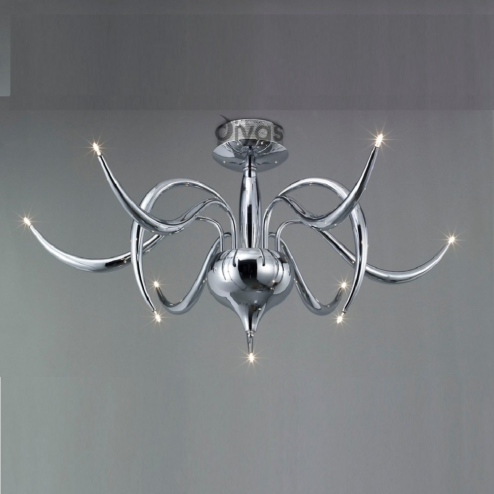 Diyas uk llamas il il30140 polished chrome nine light ceiling light aloadofball Choice Image