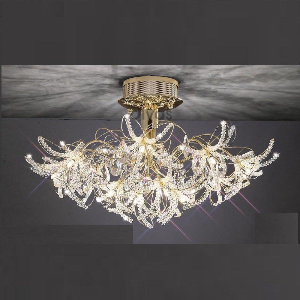 Diyas uk kenzo il il30890 gold crystal twenty four light ceiling light aloadofball Image collections