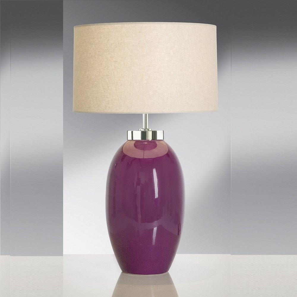 Elstead lighting victor aubergine table lamp small elstead elstead lighting victor aubergine table lamp small mozeypictures