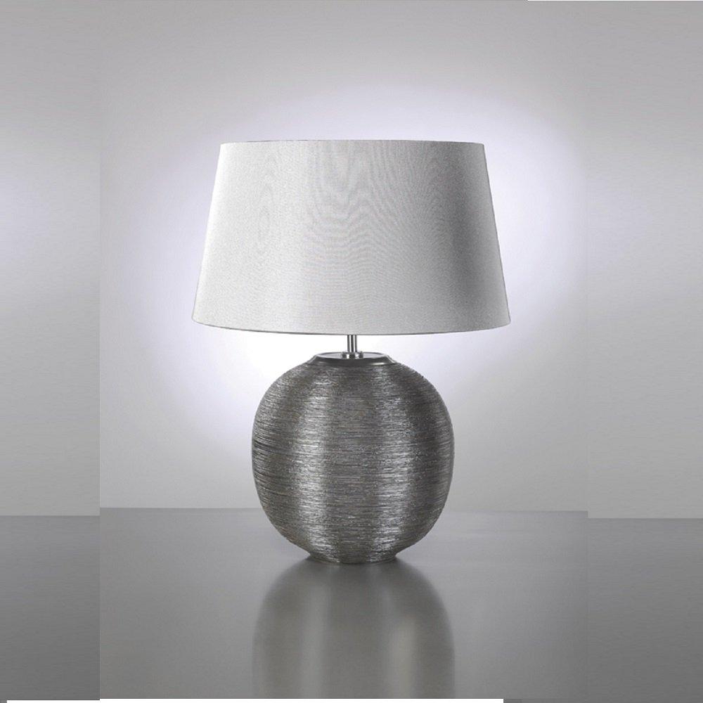Silver table lamp - Elstead Lighting Caesar Silver Table Lamp