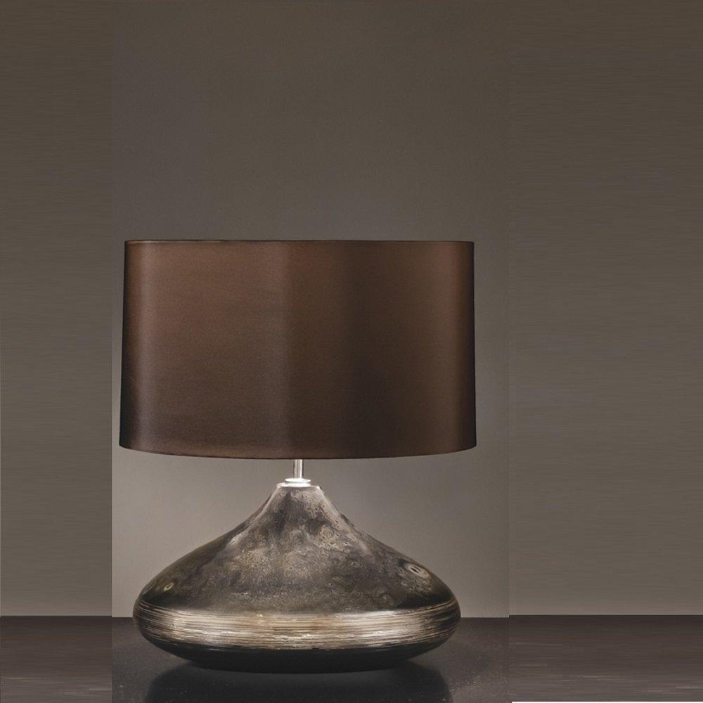 elstead lighting columbus silver turquoise spinner table lamp