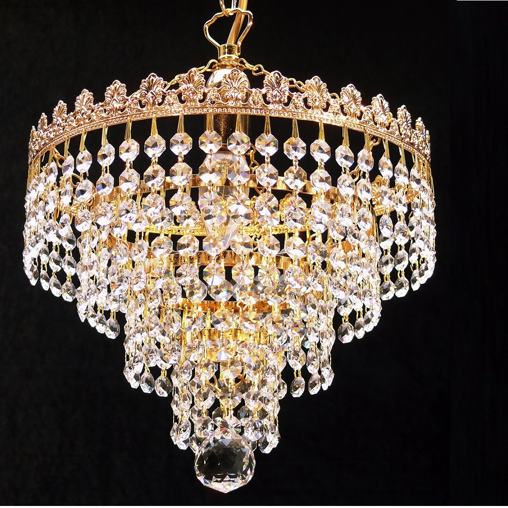 light lighting crystal pendant chandelier led lights iron european style