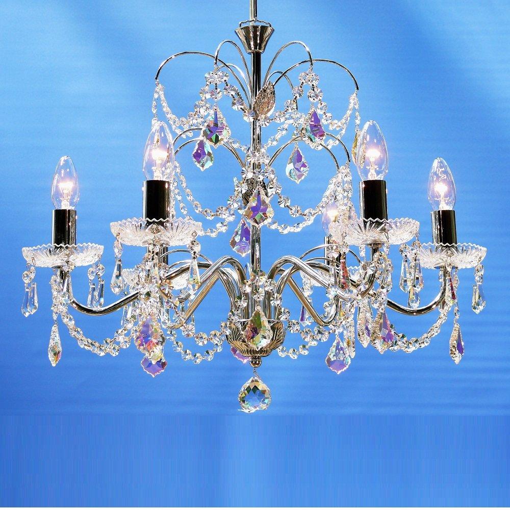 Fantastic Lighting Chandelier 34 6 Chrome With Crystal Sconces Aurora B