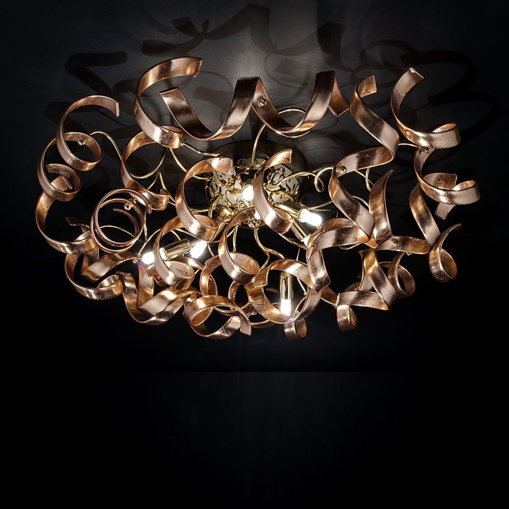 Metal lux astro astro 20538014 a770p copper ceiling light aloadofball Images