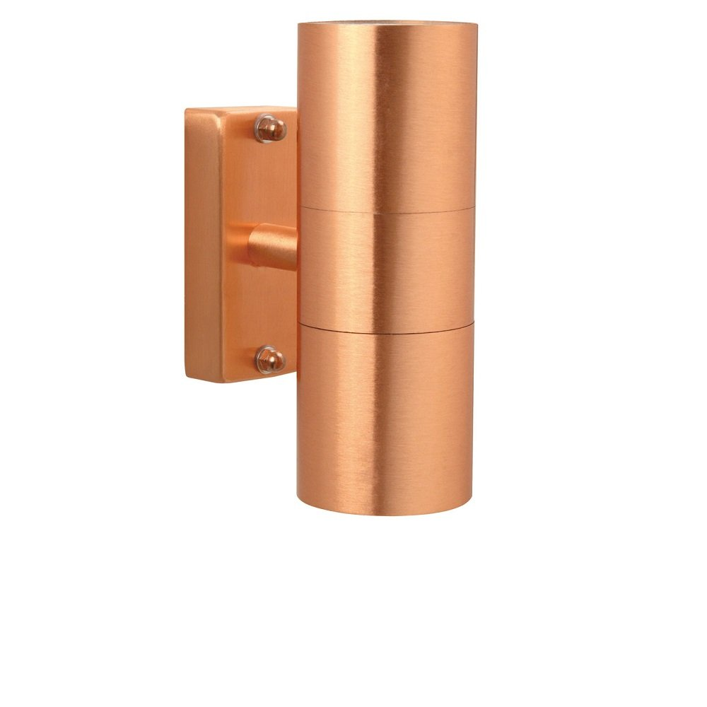 Double Wall Light External : Nordlux Tin 2x4.5W LED 21271130L Copper Double Wall Light
