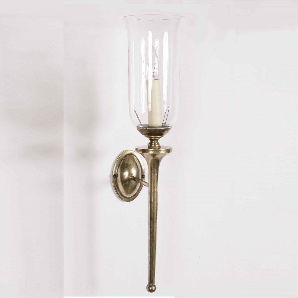 The Limehouse Lamp Company Grosvenor 721G Light Antique With Glass Shade G027 Wall Light