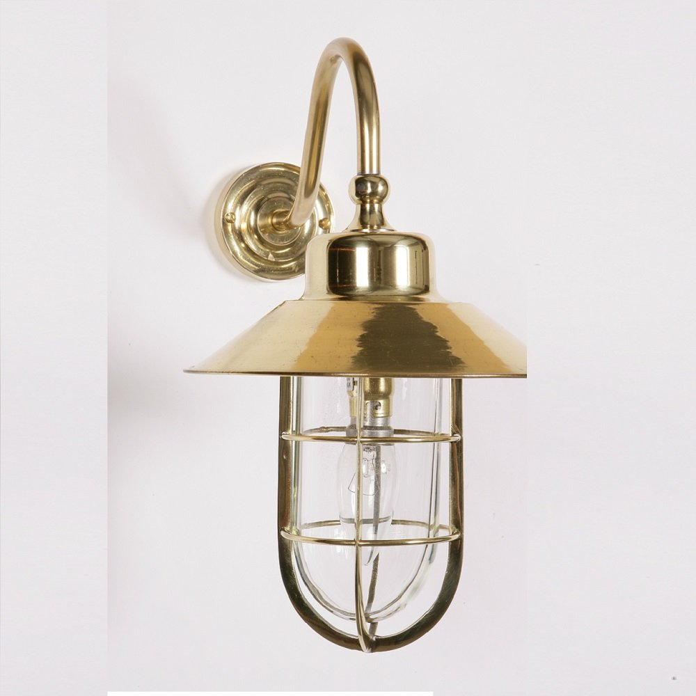 The Limehouse Lamp Company Wheelhouse 448W Polished Brass Wall Lamp