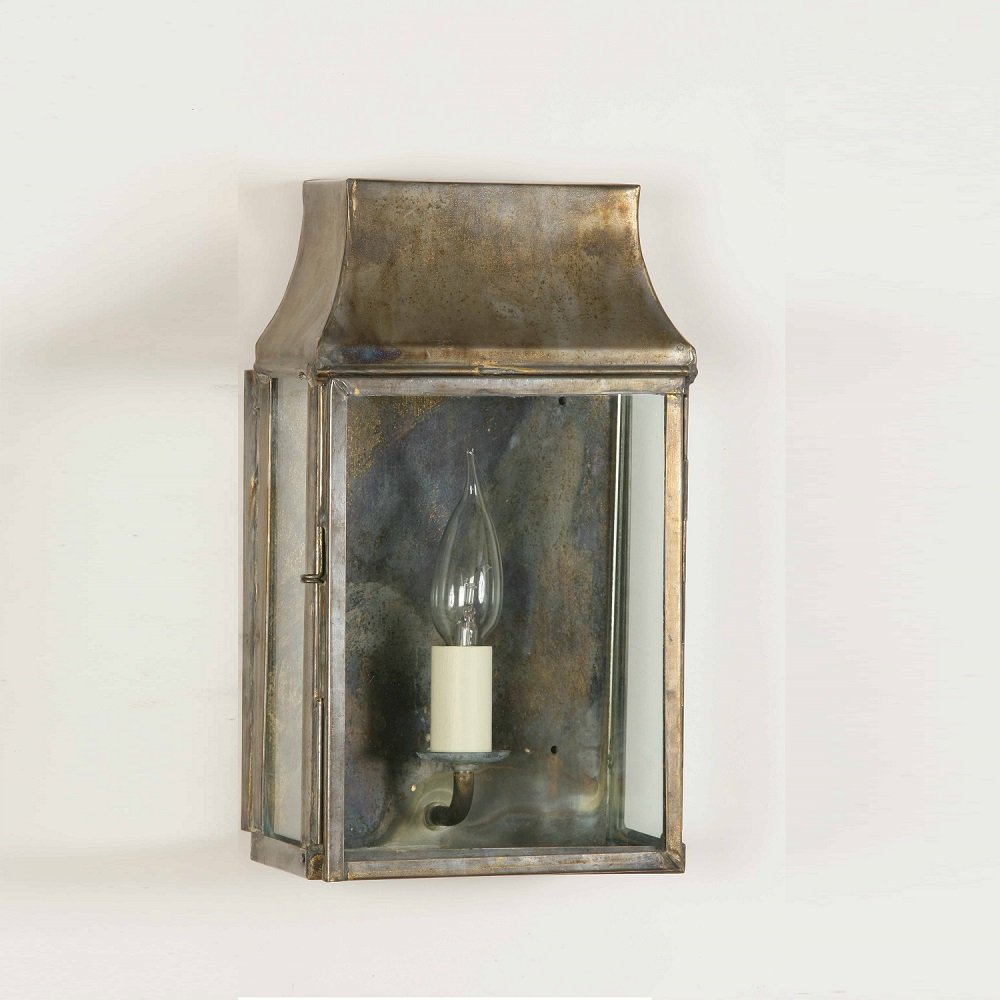Indoor Wall Lantern Lights : The Limehouse Lamp Company Strathmore 462 Solid Brass Wall Lantern Small