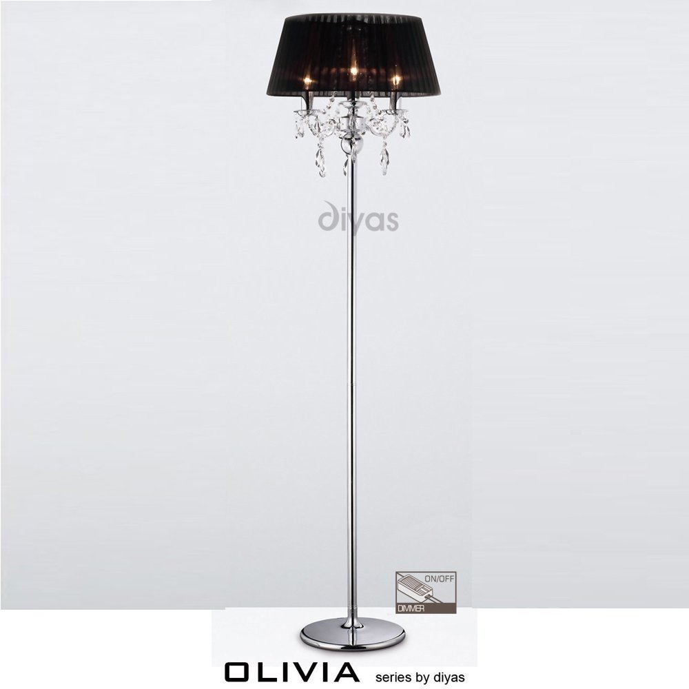 Diyas Uk Olivia Il Il30063 Bl Polished Chrome Crystal