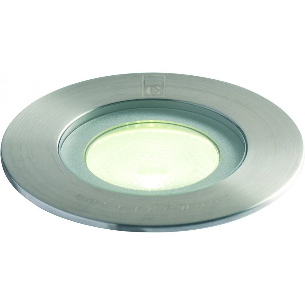 Collingwood lighting gl016 f white stainless steel led for Outdoor ground lighting