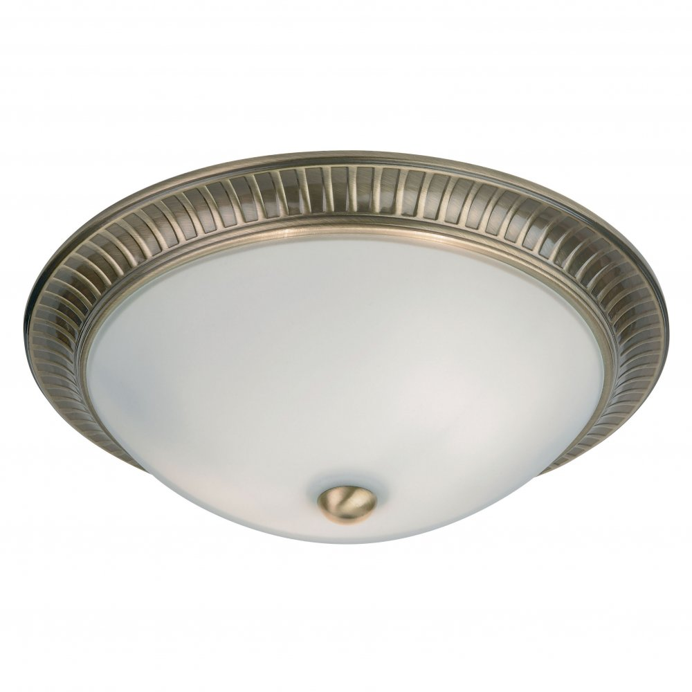 endon lighting 91123 brass semi flush ceiling light